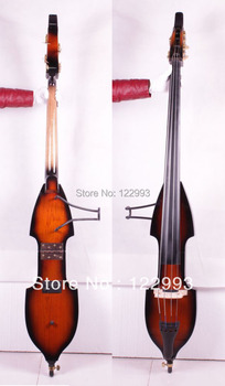 3/4 new Folded Electric Upright Double Bass Finish Solid wood Powerful Sound
