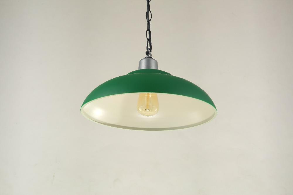 High Quality Dia. 38cm Indoor Metal Pendant Lamp Loft Northern Europe American Vintage Retro Country E27 Pendant Light Green(China (Mainland))