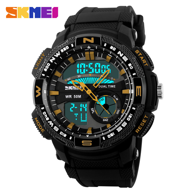 2015 SKMEI Mens Quartz Digital Watch Men Sports Watches Relogio Masculino Mens Fashion Relojes Military Waterproof Wristwatches<br><br>Aliexpress