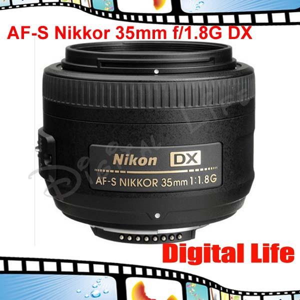 Nikon 35 1.8G Lenses Dslr AF-S Nikkor 35mm f/1.8G DX Lens for D3000 D3100 D3200 D5000 D5100 D5200 D90 D7000 D7100 D300 D300s(China (Mainland))