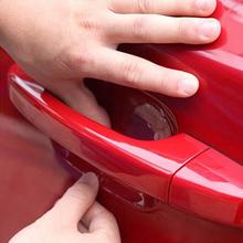 Универсальный 4 Шт. Автомобиля Наклейки Дверные Ручки Защитная Пленка Невидимый Автомобиль Ручки Царапины Автомобильный Вибрация Автомобиля Протектор Фильмы(China (Mainland))