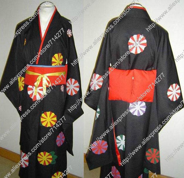 Free shipping Custom cheap Ai Cosplay Costume (Kimono) from Hell Girl(China (Mainland))