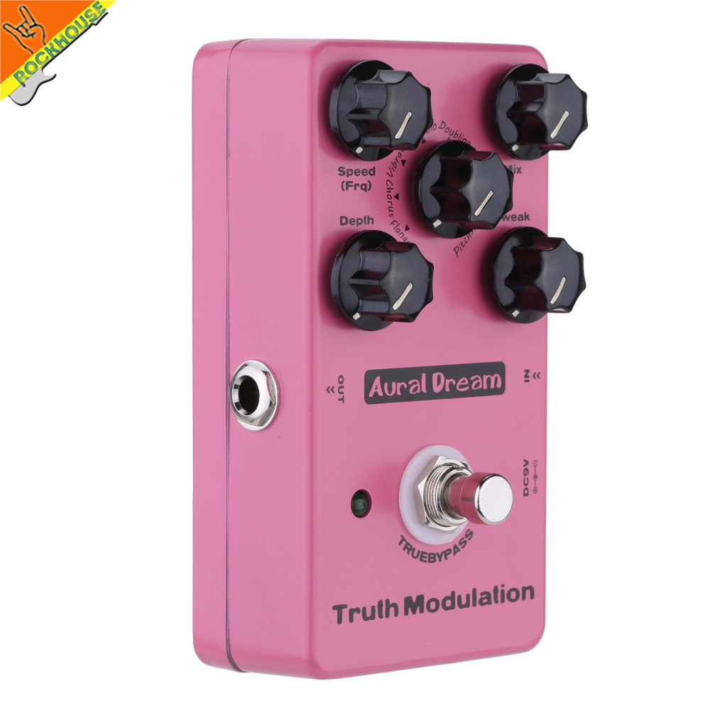 Фотография New digital guitar Modulation effect pedal Flanger chorus pedal Vibrato Tremolo Phaser pedal true bypass free shipping