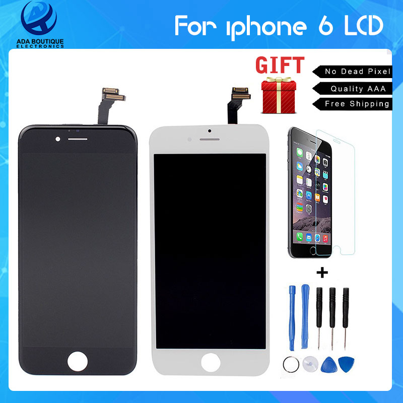 Best Quality No Dead Pixel Grade AAA 4.7 inch LCD For iPhone 6 Display touch screen with digitizer assembly replacement parts(China (Mainland))
