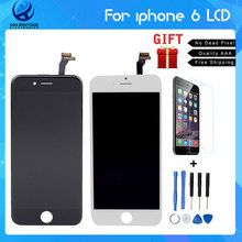 Best Quality No Dead Pixel Grade AAA 4.7 inch LCD For iPhone 6 Display touch screen with digitizer assembly replacement parts