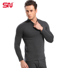 Plus Size L-XXXL Hot sale thermal underwear men set High collar cotton thick warm winter mens clothing long johns suit YP70(China (Mainland))