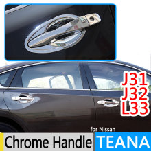Buy Nissan Teana J31 J32 L33 Altima Luxurious Chrome Door Handle Covers 2008 2012 2013 2014 2015Accessories Stickers Car-Styling for $14.31 in AliExpress store