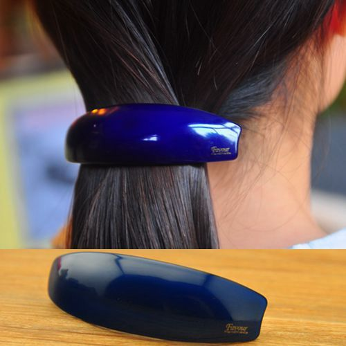 Free shipping brand FAVOUR professional OL hair tire Spring clip clamp hairpin acrylic candy color ponytail holder barrettes(China (Mainland))