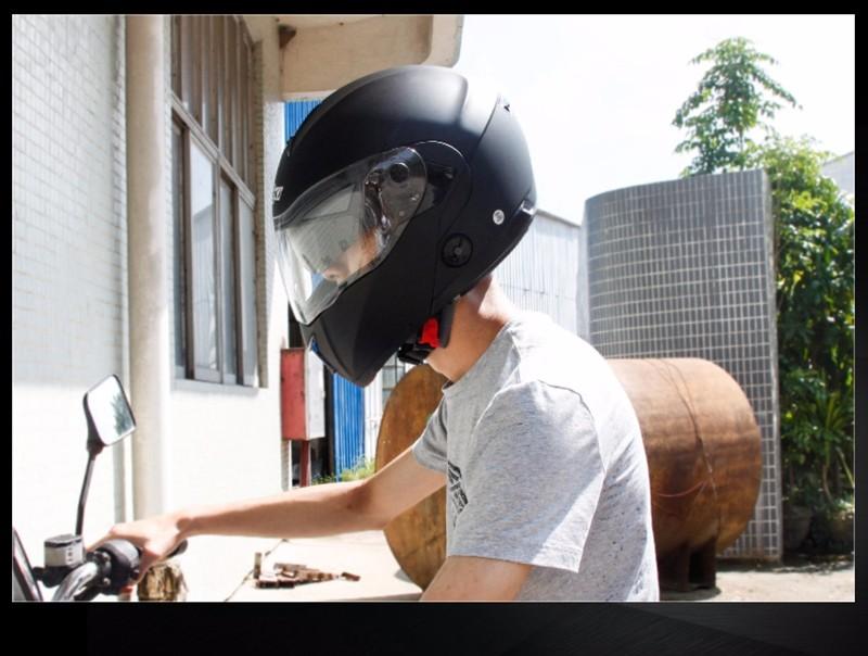 Купить 2017 Профессиональный Зимние Двойные Линзы Мотоцикл Полной Стороны Шлема Флип-Вверх Гонки Capacete Каско Nenki 835-1