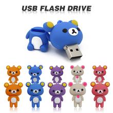 Free shipping cute Rilakkuma 4GB 8GB 32GB 64GB Silicone cartoon U Disk USB 2.0 usb Flash Drive pen drive memory stick(China (Mainland))