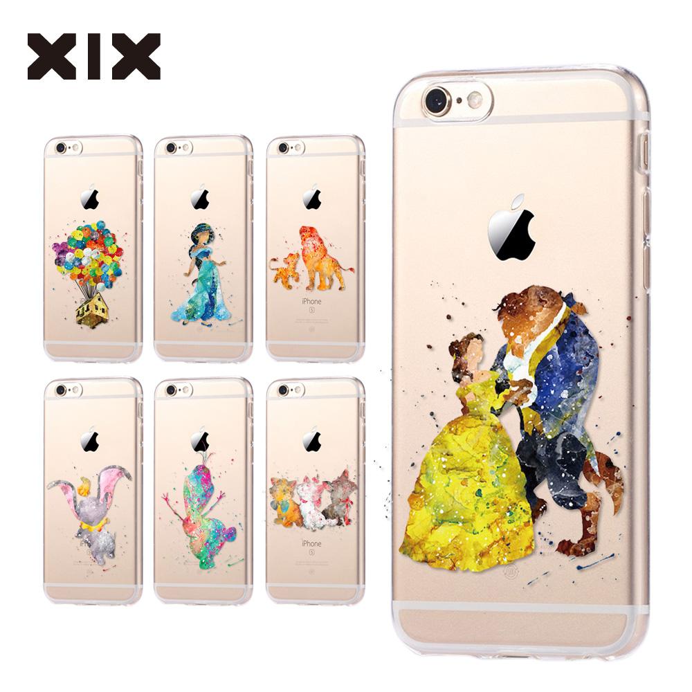 fundas iPhone 5S case 5C 5S 6 6S 7 Plus Princess soft silicone TPU cover 2016 new arrivals original coque iPhone 6S case