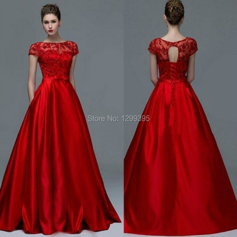 top robes blog robe de soiree rouge avec dentelle. Black Bedroom Furniture Sets. Home Design Ideas