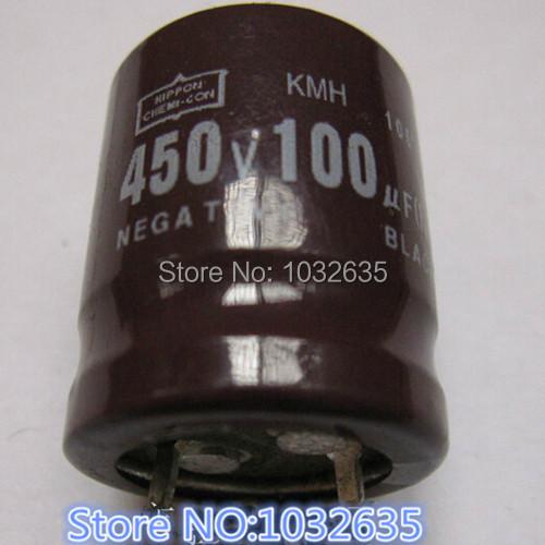 Free shipping Aluminum electrolytic capacitor NIP 450V 100UF 20*25 Integrated circuit The new and original import capacitor(China (Mainland))
