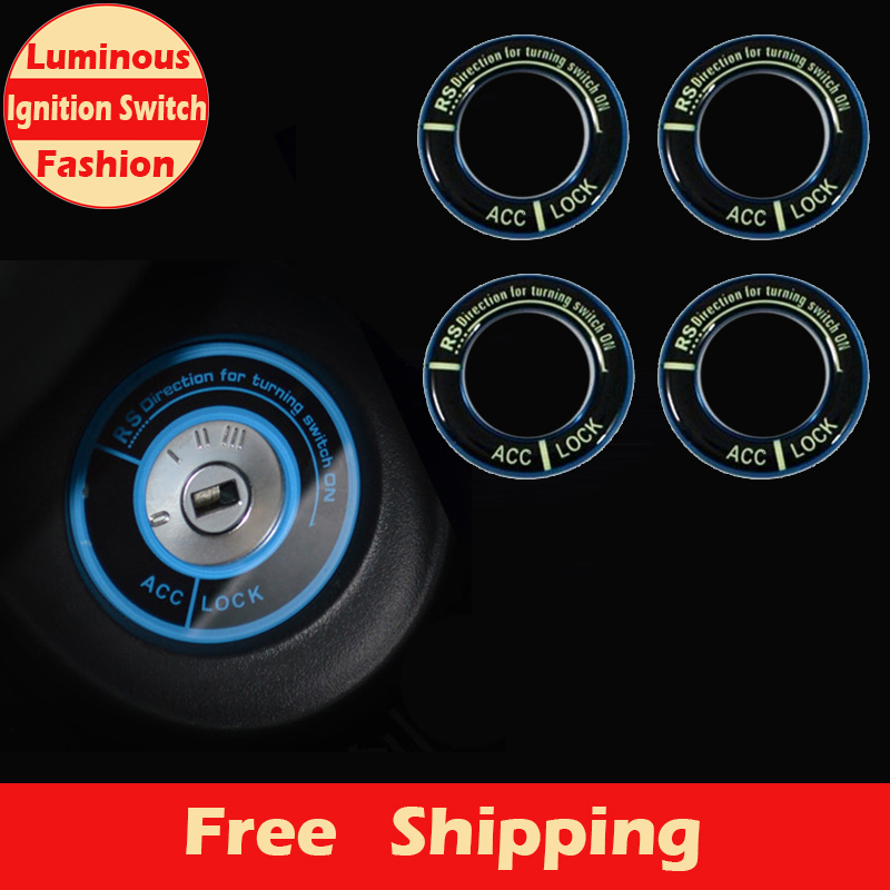 New Fashion Luminous Lighting Ignition Switch Key Cover for HONDA City,for Civic,Ciimo,Accord,Fit,CR-V Car Exterior Accessories(China (Mainland))