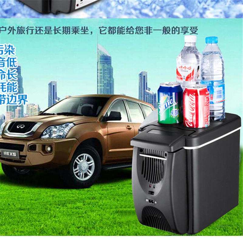 12V Vehicle mounted refrigerator { black } 7.5L portable cooler box & heating box car fridge with compressor outdoor camping(China (Mainland))
