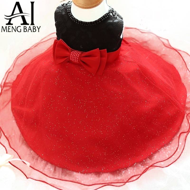 Summer Kids Clothes Girls Lace Beads Dress For Wedding And Party Sequined Formal Dress Princess Birthday Gown For Little Girl(China (Mainland))