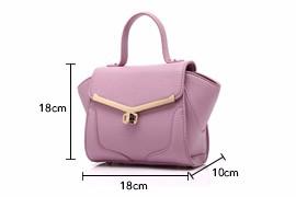 Small Hand Bag High Quality Litchi Stria 2016 New Fashion Handbag Trendy Ladylike Trapezoid Bag Women Designer Shoulder Bag