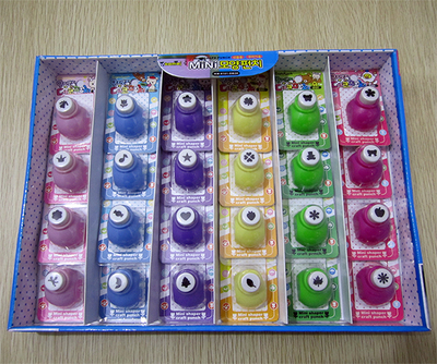 Free shipping of craft punch set 24 cards box for for Craft hole punch set