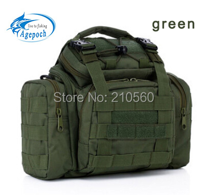 Camouflage waist packr Hot Sale Outdoor multifunctional thick canvas fishing tackle waterproof fishing tackle bag(China (Mainland))
