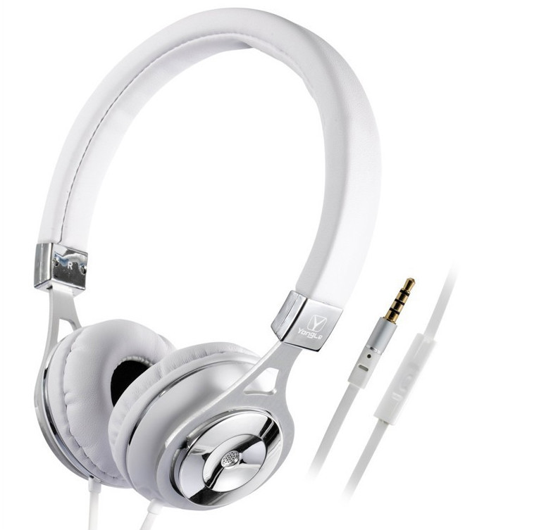 Hot models high-end mobile phone headset metal earphone headband earphone also for computer game player code B104(China (Mainland))