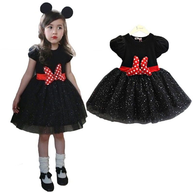 2016 baby girl summer dress girls christmas costume minnie mouse dress