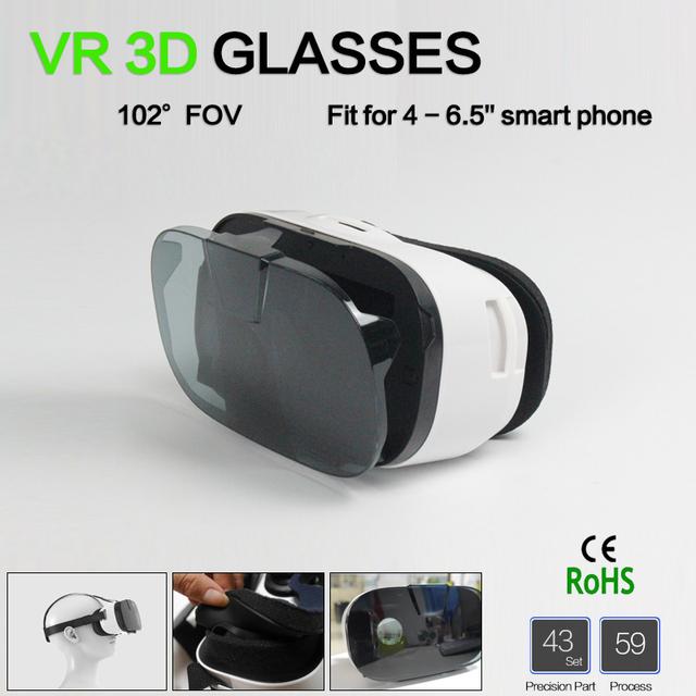 6.5 pulgadas vr 3d gafas/gafas de realidad virtual oculus rift dk2 gear realidade virtual