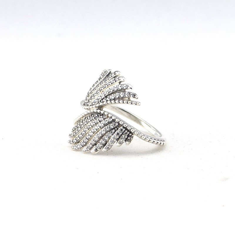 Authentic 925 Sterling-Silver-jewelry 100% silver Ring Angle Wings charm trendy gift fit PandOra jewelry wholesale 2015 New<br><br>Aliexpress