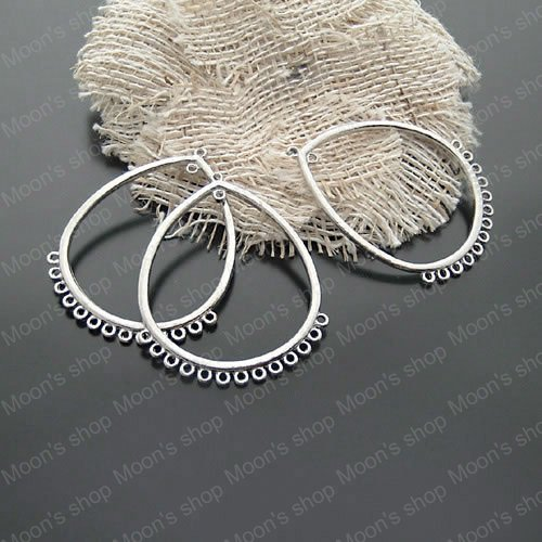(19551)Fashion Jewelry Findings,Accessories,charm,pendant,Alloy Antique Silver 46*36MM Drop Earrings hanging head 10PCS<br><br>Aliexpress
