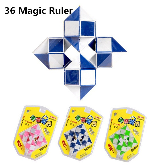 2015 Hot Selling High Quality New 36 Sections Foldable Color Snake Magic Ruler Magic Cube Jigsaw PuzzLe Free Shipping HMF020(China (Mainland))