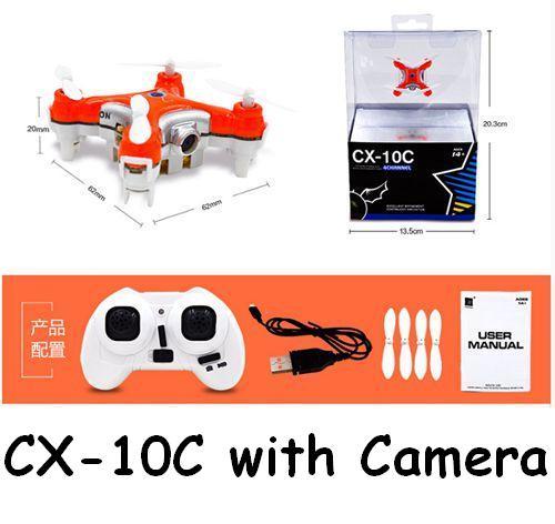 Free Shipping cheerson nano cx-10C cx10C with camera mini 2.4ghz 4ch 6-axis Headless Mode Drone rc remote control quadcopter