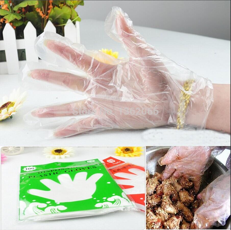 Гаджет  100pcs/lot 2015 Home transparent Didsposable gloves for housework PE gloves edible film gloves  health gloves None Безопасность и защита
