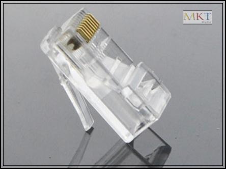 Wholesale (1000Pcs/lot) CAT5E RJ45 8P8C Cable Modular Plug Network Connector, Ethernet Plug Jack<br><br>Aliexpress
