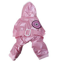 2015 Gift Pink Pet Dog Hoodie Hooded Winter Coat Jacket Jumpsuit -Chest Circumference: Approx. 16 Inch / 40.6 cm(China (Mainland))