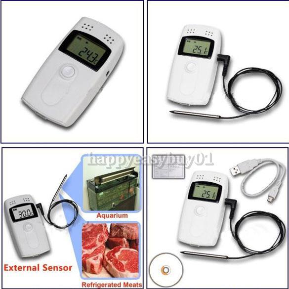 USB Temperature Data logger Datalogger Recorder with External Sensor H1E1(China (Mainland))