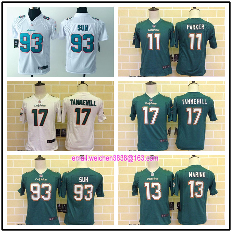 Hot Miami Dolphin For youth kids boy girls Jarvis Landry Ryan Tannehill Kenyan Drake Koa Misi Odell Beckham Jr BH-8,camouflage(China (Mainland))