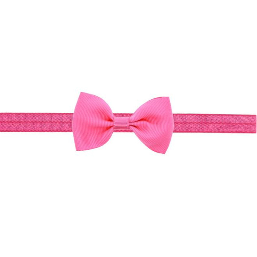 Hot Brand Kids Girls Mini Bowknot Hairband Elastic Headband