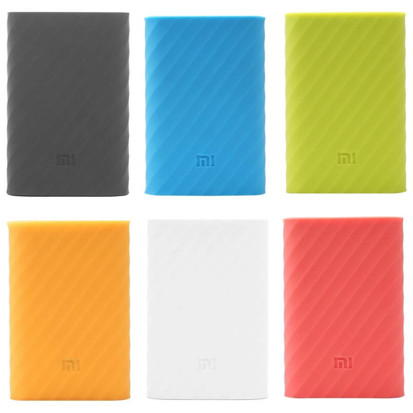 New Free shipping High Quality Soft Silicone Rubber Protective Cover For Xiaomi 10000mah Power Bank Case Skin Wholesale(China (Mainland))