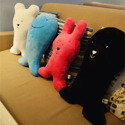 Super cute soft plush cartoon animal dog fish bear bunny toy doll pillow cushion,creative birthday and decorated gift for family(China (Mainland))