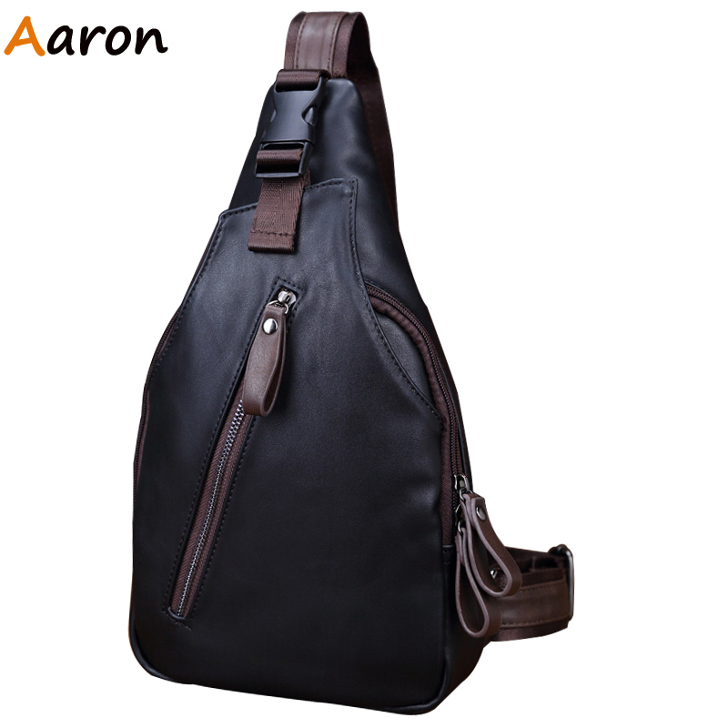 Aaron - Molle Pouch Luxury Brand Vintage Leather Messenger Bag Mens Small Chest Pack Bags Military Tactical Shoulder Bag For Men<br><br>Aliexpress