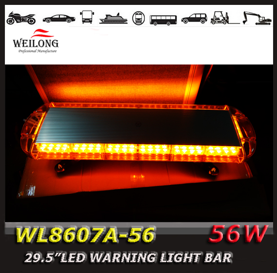 Free waterproof Car Roof Flashing Strobe Emergency Light warning 56LED DC 56 LED Flash light 56W FLASH beacon light amber(China (Mainland))