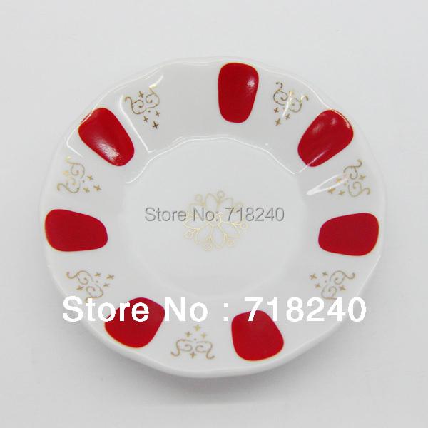 Traditional style porcelain turkish tea glass saucers 1 pcs porcelain plate - Vaisselle de luxe marque ...