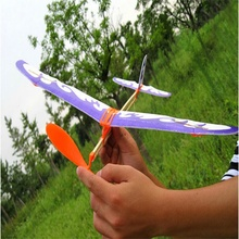 Children Early Education Toy Rubber Band Powered Glider Plane Assemble Aircraft(China (Mainland))