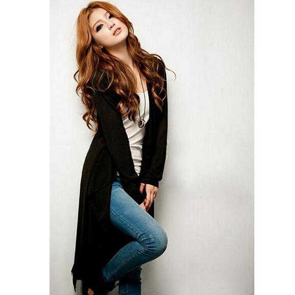 Womens Casual Long Sleeve Cardigan Knit Knitwear Sweater Coat Long Wraps Outwear 2015 New(China (Mainland))