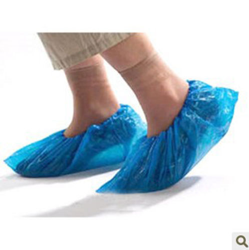 100 Pcs Plastic Disposable Shoe Covers Carpet Cleaning Overshoe Blue(China (Mainland))