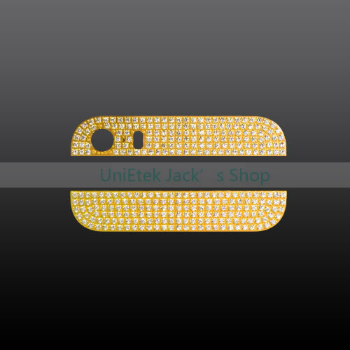 New Arrival Bling Bling Rhinestone Diamond Inlaid on the Aluminum Back Glass Cover for Apple iPhone 5S Free Shipping(China (Mainland))