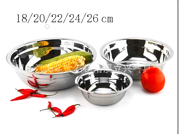 Free Shipping Tableware Cooking Tools Round Stainless Steel Soup Dish Food Plate 5pcs/set(China (Mainland))
