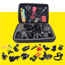 30 in 1 for Gopro Go Pro Hero 4 3+ 3 2 1 Accessories Set Kit Chest Head Bag Strap Belt Suction Cup Mount Floating Grip