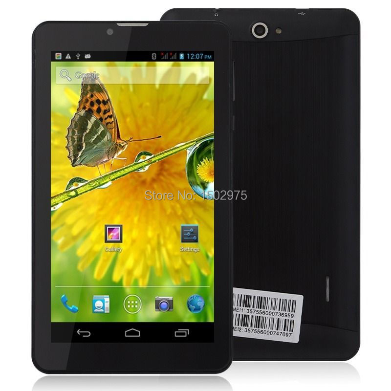 7 inch Dual Core 3G Dual Sim GPS Android 4.2 Bluetooth 4GB Phone Black(China (Mainland))