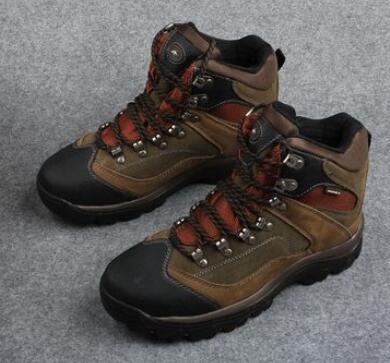 Men outdoor snow shoes men hiking shoes male genuine leather waterproof breathable anti-slip walking shoes men sneakers