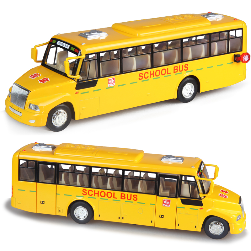 Free shipping Ultralarge vocalization stunning big school bus model car child toy(China (Mainland))